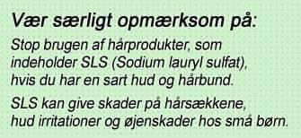 Sodium lauryl sulfat kan give tør hovedbund