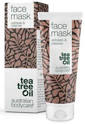 Ansigtsmaske med tea tree oil