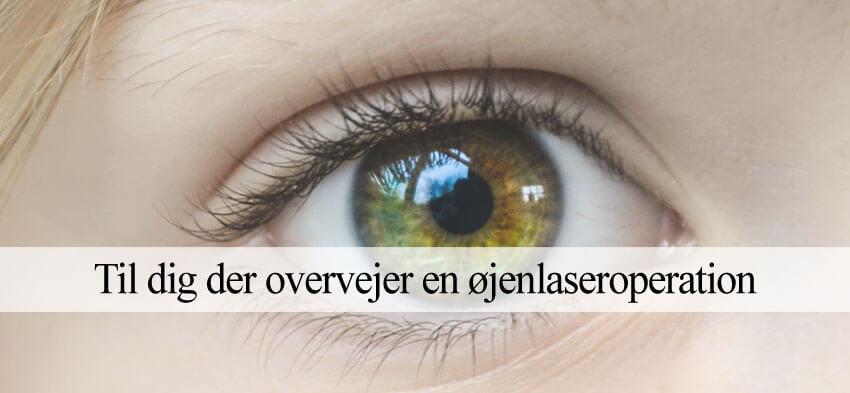 Laserbehandling øjne